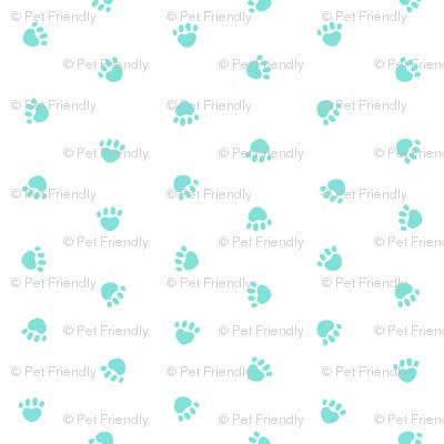 valentines paw prints, cute dog fabric, dog fabric, paw print, paw print fabric, mint paws,