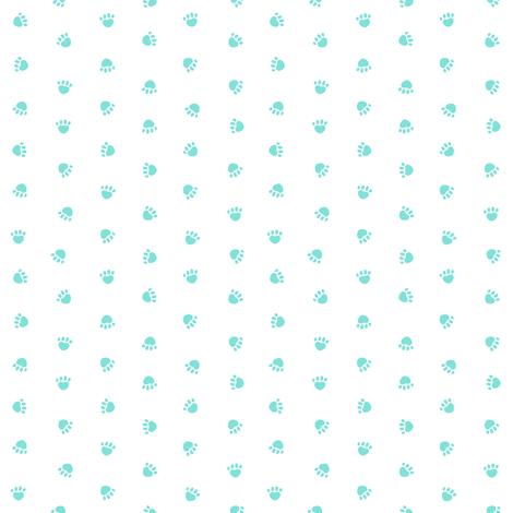 valentines paw prints, cute dog fabric, dog fabric, paw print, paw print fabric, mint paws,  fabric by petfriendly on Spoonflower - custom fabric