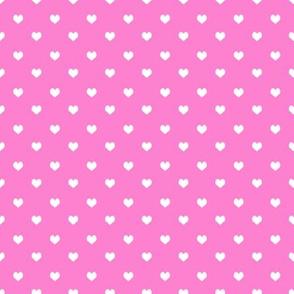 valentines heart fabric - bright pink valentines love fabric, hearts fabric, mini hearts fabric, cute valentines fabric