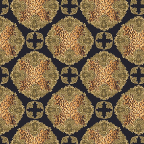 Baroque Crossed Leopard