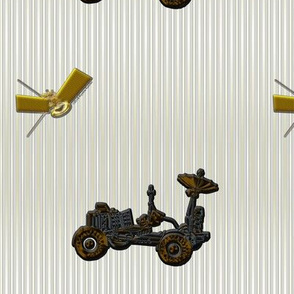 Moon Buggy and Satellite on Neutral Stripes