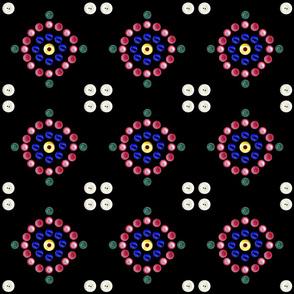 Button Circles Black 150