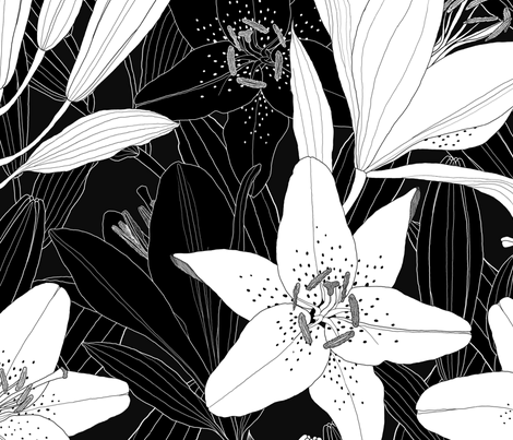 Lily  fabric by j9design on Spoonflower - custom fabric