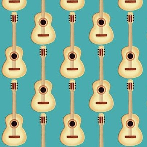 Acoustic Guitar / Natural on Turquoise(strum it up!)