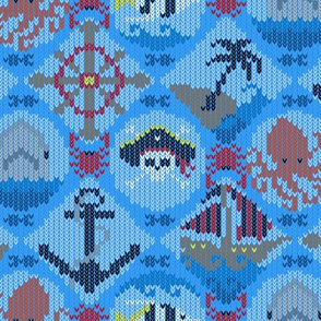 Pirate Fair Isle Blue