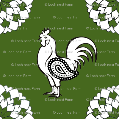Rooster's Green Onion Kerchief | Stock Pot