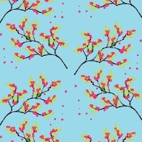 Apple Blossom (Pink & Blue)