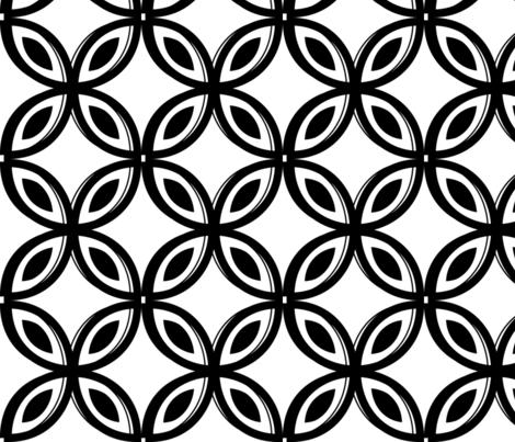 Black Geo Floral fabric by rebeccatiana on Spoonflower - custom fabric