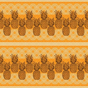 Pineapple Lace-Fruit Delight. Repeat Pattern illustration.