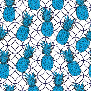 Pineapple Pool-Fruit Delight. Seamless Repeat Pattern illustration.