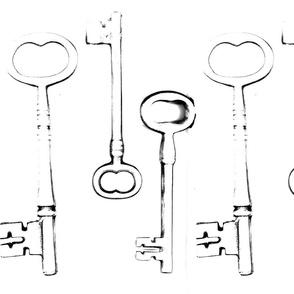 old keys black on white