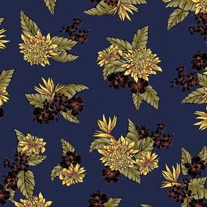 Virginia Floral - Navy