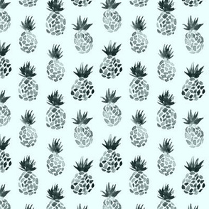 Pineapples on mint || watercolor tropical pattern for nursery