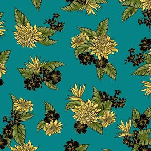 Virginia Floral - Teal