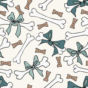 Dog Bones - Spruce, D Turq - H White