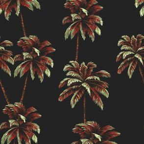 Crayon Palms - Black