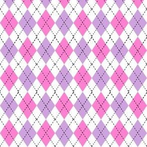 argyle fabric - valentines day fabric, valentines day argyle, girls preppy fabric, preppy argyle, - pink and purple