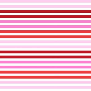 valentines candy stripes - stripe fabric, stripes fabric, candy stripes, bright stripes, pink stripes -  pinks