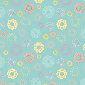 Under the Sea Shell Flowers Mint