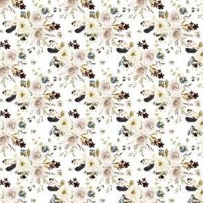 "2"" Autumn Harvest Flowers - White"