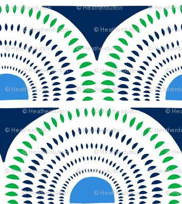 Aurora - Jumbo Geometric Navy Blue Green