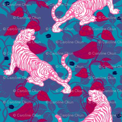 Jungle Tiger Fuschia