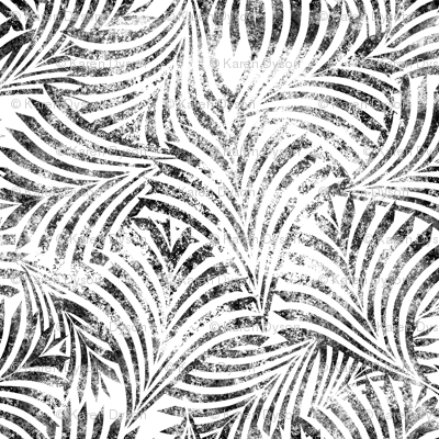 Loulu Palm Batik Black on White Jumbo 150