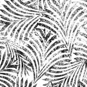 Loulu Palm Batik Black on White Jumbo 150