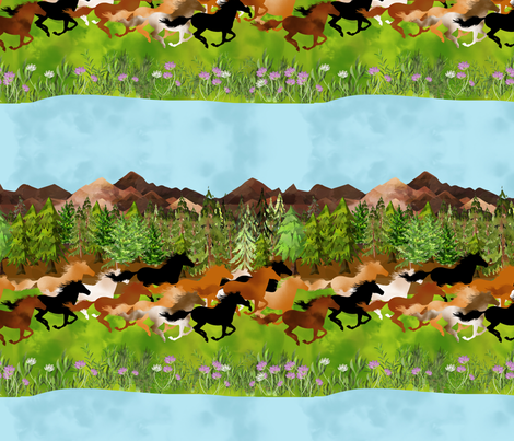 Wild Horses fabric by bags29 on Spoonflower - custom fabric