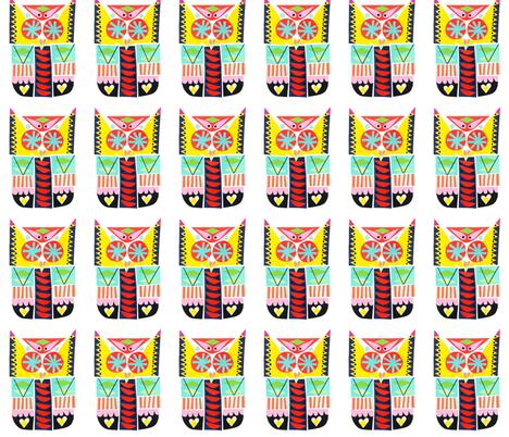 Owl fabric by angelawheeler on Spoonflower - custom fabric