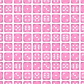 Heart Dice in Pink