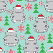 hippos-with-santa-hats-on-teal