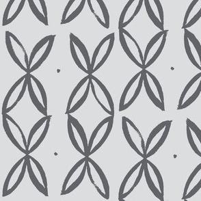 four leaf-slate on grey