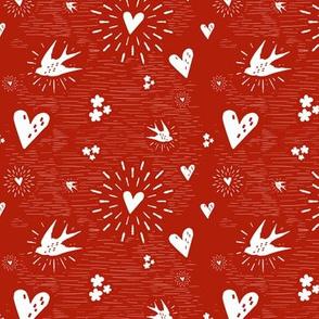 Inkblot Valentine - rouged