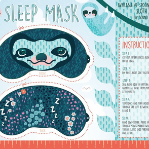 Sloth Cloth Sleep Mask Project