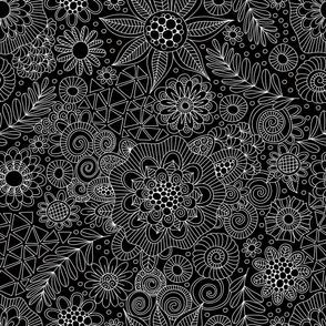 Black Doodle Pattern
