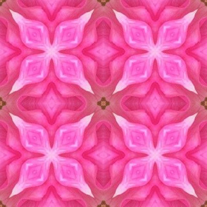 18-02p Hot Pink Floral Geometric Abstract Blender _ Miss Chiff Designs