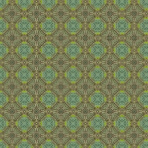 18-02n Olive Green Teal Lime Moth Blender Geometric _ Miss Chiff Designs
