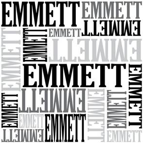 emmett in black and grays
