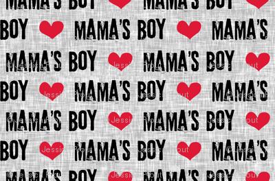 (micro scale V2) Mama's boy - valentines day fabric