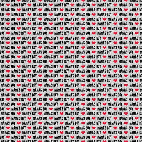 (micro scale V2) Mama's boy - valentines day fabric fabric by littlearrowdesign on Spoonflower - custom fabric