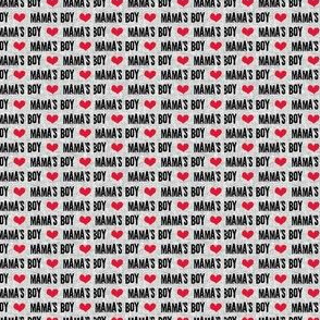 (micro scale V2) Mama's boy - valentines day fabric