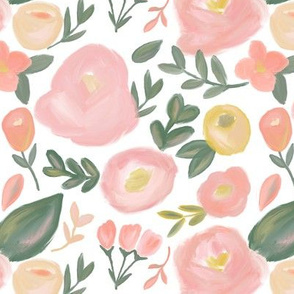 Peach Abstract Florals