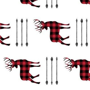 buffalo plaid buck with arrow stack (90) C18BS