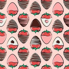 (small scale) chocolate covered strawberries - pink C18BS