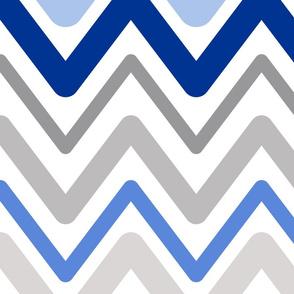 Soft Chevron Waves Large Scale Blue