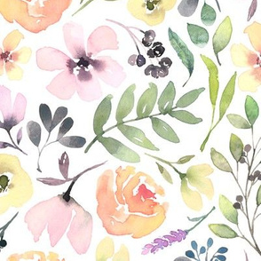 Watercolour Summer Floral
