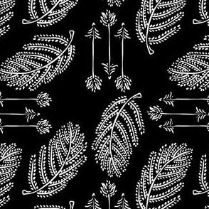 Leaves & Arrows - Black