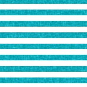 Turquoise Linen Stripes