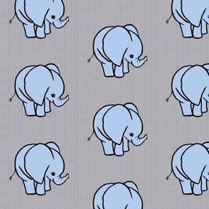 Small Blue Elephant on Gray
